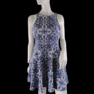 Aeropostal Sleeveless white & purple flower dress